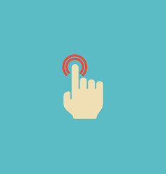 flat icon double click element vector image vector image