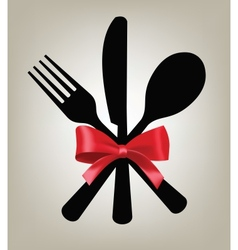 fork knife and spoon vector image vector image