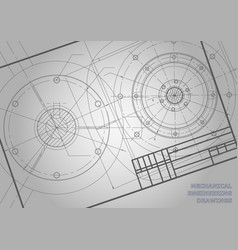 Gray mechanical engineering drawings background vector