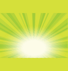 green natural eco sunrise pop art background vector image vector image