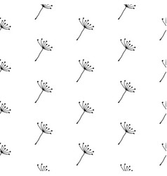 hand drawn dandelion seeds seamless pattern vector image