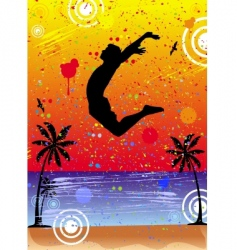 jump over the world vector image vector image