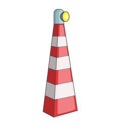 Lighthouse icon cartoon style vector