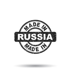 Made in russia stamp on white background vector