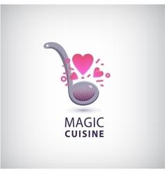 magic cuisine love cook logo vector image