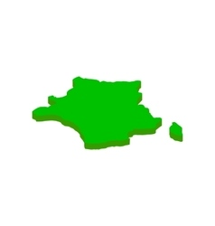 Map of france isometric 3d icon vector