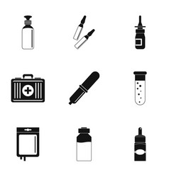 Medical care icon set simple style vector