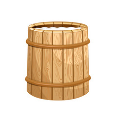 milk wooden barrel isolated icon vector image vector image