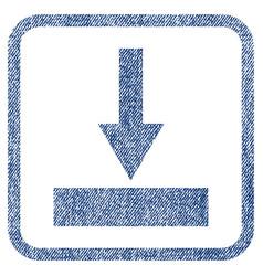 Move bottom fabric textured icon vector