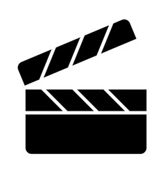 movie clapper board silhouette icon vector image