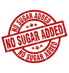 No sugar added round red grunge stamp vector