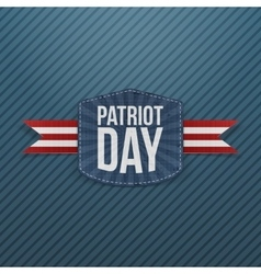 Patriot day realistic emblem with ribbon vector