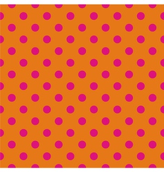 Pink polka dots tile wallpaper background vector image vector image