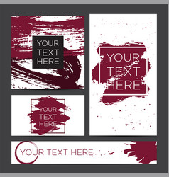 Set of banners ink brush stroke vector