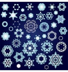 snowflake factory vector image