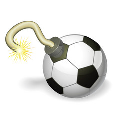 soccer ball bomb concept vector image vector image