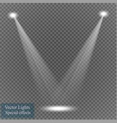 Spotlight on transparent background light vector