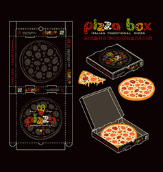 Stock design of boxes for pizza vector