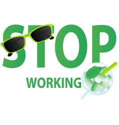 stop working vector image vector image