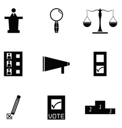 Vote icon set vector