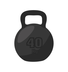 Dumbbell weight gym vector
