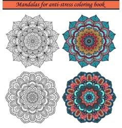 Mandalas for Anti-Stress Coloring Book 1 vector image