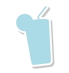Fresh cocktail summer isolated icon vector