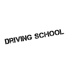 Driving school rubber stamp vector