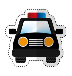 police patrol car icon vector image
