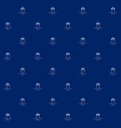 Seamless sea pattern with cruise ship vector