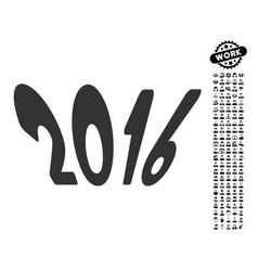 2016 year icon with professional bonus vector