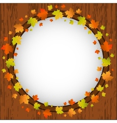Autumn design frame wreath of colorful maple vector