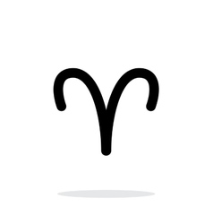 Aries zodiac icon on white background vector