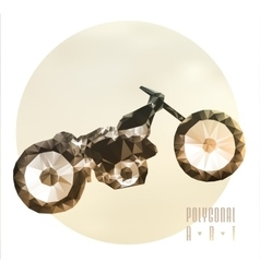 Abstract polygonal motorbike vector