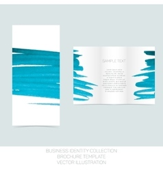 Business identity collection turquoise tiffany vector
