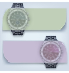 Watches with banner vector