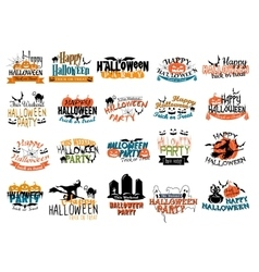 Halloween horror and eerie banners vector