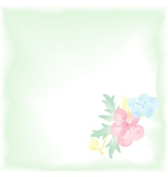 Digital watercolor background with flowers gentle vector