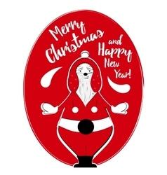 Holiday card with santa vector