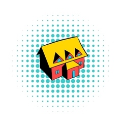 Cottage icon comics style vector