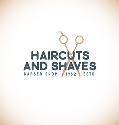 Color barber shop sign template vector