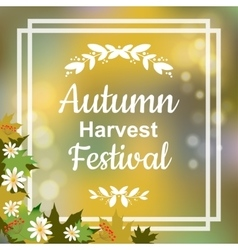 Autumn harvest festival vector