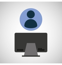 Avatar computer device network icon vector