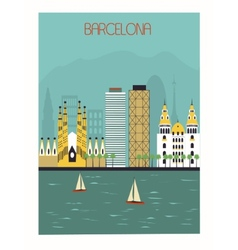 Barcelona vector image vector image