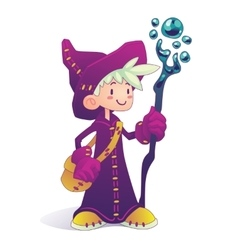 Cartoon mage character vector image