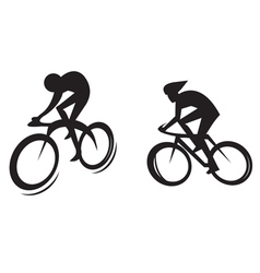 Cyclist silhouette vector