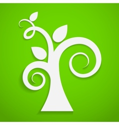 Eco icon Paper tree vector image