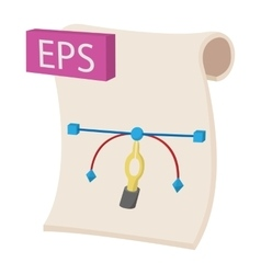 EPS icon cartoon style vector image vector image