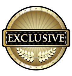 Exclusive Gold Label vector image vector image