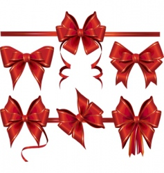 gift bows vector image